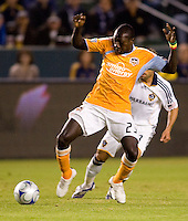 Houston Dynamo forward Dominic Oduro moves with the ball during the Western Conference Final. The LA Galaxy defeated the Houston Dynamo 2-1 to win the MLS Western Conference Final at Home Depot Center stadium in Carson, California on Friday November 13, 2009.....