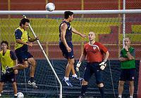 Brian Ching, Pablo Mastroeni, Marcus Hahnemann. Stadium Training prior to FIFA World Cup qualifiers USA vs El Salvador at Estadio Cuscatlán Stadium  on March 27, 2009.