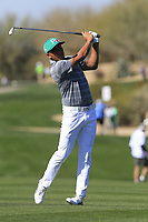 Rickie Fowler (USA) plays his 2nd shot on the 5th hole during Saturday's Round 3 of the Waste Management Phoenix Open 2018 held on the TPC Scottsdale Stadium Course, Scottsdale, Arizona, USA. 3rd February 2018.<br /> Picture: Eoin Clarke | Golffile<br /> <br /> <br /> All photos usage must carry mandatory copyright credit (&copy; Golffile | Eoin Clarke)