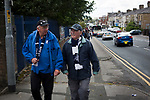 Preston North End 1 Reading 0, 19/08/2017. Deepdale, Championship. Home supporters making their way towards the ground before Preston North End take on Reading in an EFL Championship match at Deepdale. The home team won the match 1-0, Jordan Hughill scoring the only goal after 22nd minutes, watched by a crowd of 11,174. Photo by Colin McPherson.
