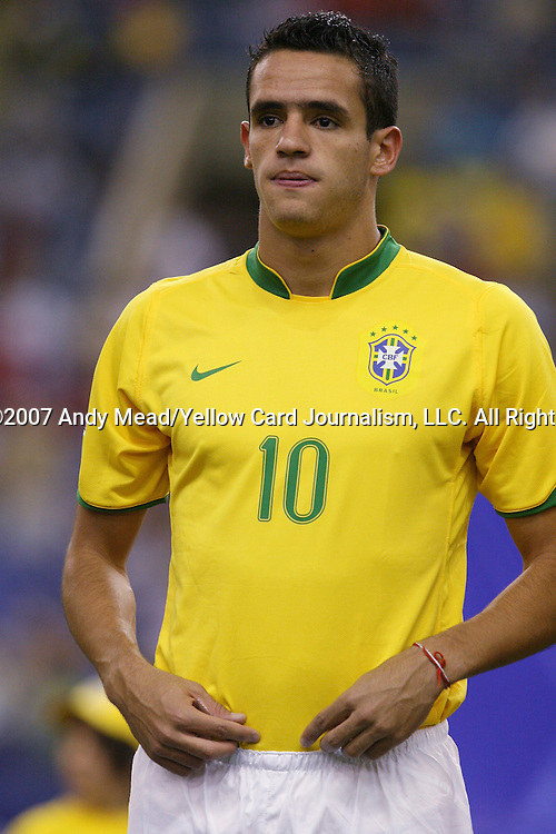 30 June 2007: Brazil's Renato Augusto. At Le Stade Olympique in Montreal, Quebec, Canada. Poland's Under-20 Men's National Team defeated Brazil's Under-20 Men's National Team 1-0 in a Group D opening round match during the FIFA U-20 World Cup Canada 2007 tournament.