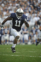 14 November 2009:  Penn State LB Navorro Bowman (11) had 12 tackles, 2 tackles for loss, 1 sack, 1 pass defended, and an interception, which he returned 73 yards for a touchdown.  The Penn State Nittany Lions defeated the Indiana Hoosiers 31-20 at Beaver Stadium in State College, PA..