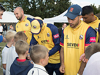 Essex Players sign autographs at the end of the game during Upminster CC vs Essex CCC, Benefit Match Cricket at Upminster Park on 8th September 2019
