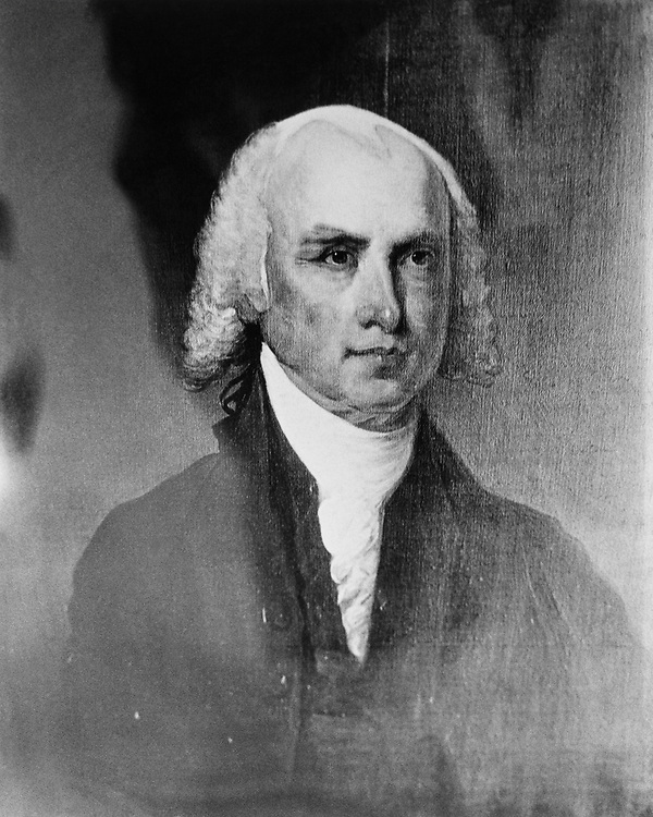 Portrait of Former President James Madison in the Library of Congress collection on June 25, 1991. (Photo by CQ Roll Call via Getty Images)