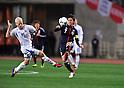 Halldor Bjornsson (ISL), Yasuhito Endo (JPN),.FEBRUARY 24, 2012 - Football / Soccer :.Kirin Challenge Cup 2012 match between Japan 3-1 Iceland at Nagai Stadium in Osaka, Japan. (Photo by Jinten Sawada/AFLO)