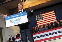 Mitt Romney, Republican Presidential Candidate speaks to supporters in Pennsylvania
