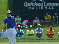 Bethesda, MD - June 28, 2014: Justin Rose on the 10th hole putting green during Round 3 of the Quicken Loans National at the Congressional Country Club in Bethesda, MD, June 28, 2014.  (Photo by Don Baxter/Media Images International)