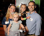 Cricket and Daniel DeWalch with Sophie,3, and Lauren,2, at the M.D. Anderson Halloween party at The Galleria Sunday Oct 25, 2015.(Dave Rossman photo)