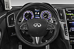 Car pictures of steering wheel view of a 2015 Infiniti Q50 Sport 4 Door Sedan