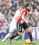 Real Madrid's James Rodriguez (l) and Athletic de Bilbao's Benat Etxebarria during La Liga match. February 13,2016. (ALTERPHOTOS/Acero)