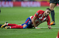 Atletico Madrid's Belgian midfielder Yannick Carrasco during the UEFA Champions League group C match between Atletico Madrid and Chelsea played at the Wanda Metropolitano Stadium in Madrid, on September 27th 2017.