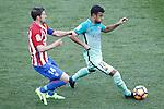 Atletico de Madrid's Gabi Fernandez (l) and FC Barcelona's Rafinha Alcantara during La Liga match. February 26,2017. (ALTERPHOTOS/Acero)