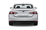 Straight rear view of a 2020 Chevrolet Malibu LT 4 Door Sedan stock images