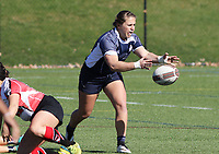 Penn State women's rugby Gabby Cantorna against Rutgers 2 women's rugby during the Big Ten Women's Rugby 7's Tournament on April 9, 2017. Penn State won 73-0. Photo/©2017 Craig Houtz