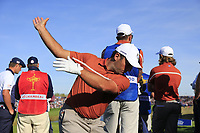 Francesco Molinari (Team Europe) on the 11th tee during Saturday's Foursomes Matches at the 2018 Ryder Cup 2018, Le Golf National, Ile-de-France, France. 29/09/2018.<br /> Picture Eoin Clarke / Golffile.ie<br /> <br /> All photo usage must carry mandatory copyright credit (© Golffile | Eoin Clarke)