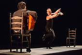 "Manuel Liñan dancing. London, England. ""Trasmín"" performed by the Belén Maya Company during the Flamenco Festival London 2014 at Sadler's Wells Theatre."