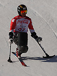 Kenji Natsume (JPN), <br /> MARCH 13, 2018 - Alpine Skiing : <br /> men's Super Combined  Sitting <br /> at Jeongseon Alpine Centre  <br /> during the PyeongChang 2018 Paralympics Winter Games in Pyeongchang, South Korea. <br /> (Photo by Sho Tamura/AFLO)