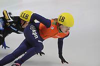 SHORT TRACK: DORDRECHT: Sportboulevard, 13-02-2016, ISU World Cup Short Track Final 2015/2016, Rianne de Vries (#18), ©photo Martin de Jong