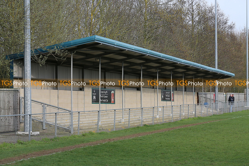 The covered terrace during Ware vs AFC Hornchurch, Ryman League Division 1 North Football at Wodson Park on 11th March 2017