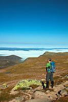 Creag an Leth-choin (Lurcher's Crag) from beneath Cairn Lochan, Cairngorm National Park, Badenoch & Speyside