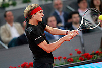 Alexander Zverev, Germany, during Madrid Open Tennis 2018 match. May 11, 2018.(ALTERPHOTOS/Acero) /NORTEPHOTOMEXICO