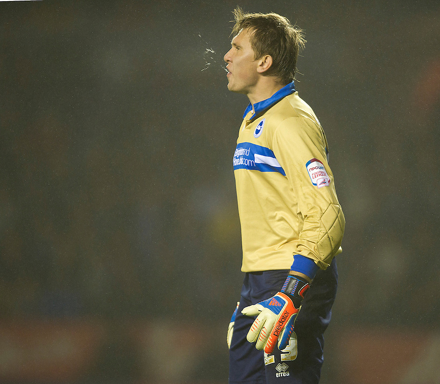 Brighton and Hove Albion's goalkeeper Tomasz Kuszczak ..Football - npower Football League Championship - Leicester City v Brighton and Hove Albion - Tuesday 23rd October 2012 - King Power Stadium - Leicester..