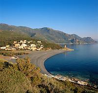 France, Corsica, Albo: small village at West coast of Cap Corse Area   Frankreich, Korsika, Albo: kleiner Ort an der Westkueste des Cap Corse