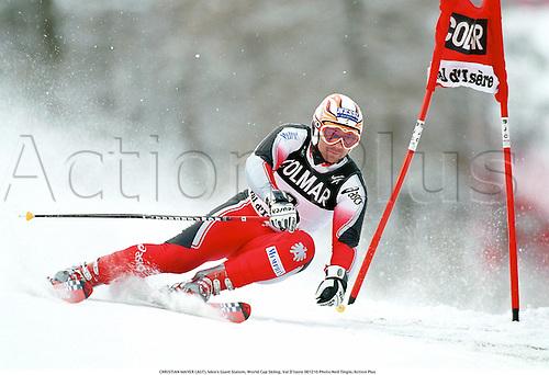 CHRISTIAN MAYER (AUT), Men's Giant Slalom, World Cup Skiing, Val D'Isere 001210 Photo:Neil Tingle/Action Plus...2000.winter sport.winter sports.wintersport.wintersports.alpine.ski.skier.man