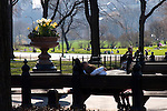 People enjoying Central park. Images of New York 2005, New York,U.S.A
