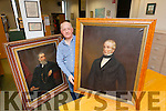 Michael Lynch (Archivist) at Kerry Library, who was presented with two paintings, from the Sisters of Mercy, St John's Balloonagh, in particular  Sr. Dorothy and Sr. Dora. The paintings are of John Mulchinock (benefactor of  the Convent of Mercy, St Johns Balloonagh and was also buried in the convent chapel), Edward Mulchinock  nephew of John Mulchinock  and brother of William Pembroke Mulchinock  (writer of the Rose of Tralee). The portraits were painted in the mid 1800's.