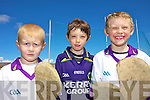 PUCK OUT: Conor Murphy, Oisi?n Ryall and Sean O'Connor enjoying the GAA Cu?l Camp at Ballyduff GAA Grounds last Friday.