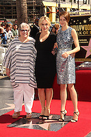 Kathy Bates, Kate Winslet, Shailene Woodley<br /> at the Kate Winslet Star on the Hollywood Walk of Fame, Hollywood, CA 03-17-14<br /> David Edwards/DailyCeleb.Com 818-249-4998