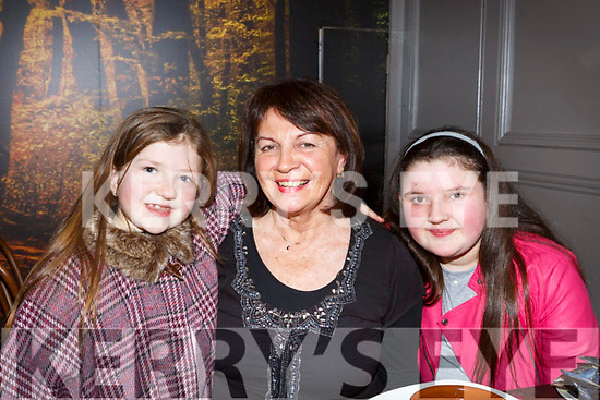 Marie Porter from Spa, Tralee having a girls night out with her granddaughters in No 4 The Square on Saturday night. L-r Eden Ryan, Marie Porter and Isabel Ryan.