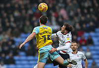 Bolton Wanderers' Christian Doidge competing with Rotherham United's Clark Robertson<br /> <br /> Photographer Andrew Kearns/CameraSport<br /> <br /> The EFL Sky Bet Championship - Bolton Wanderers v Rotherham United - Wednesday 26th December 2018 - University of Bolton Stadium - Bolton<br /> <br /> World Copyright &copy; 2018 CameraSport. All rights reserved. 43 Linden Ave. Countesthorpe. Leicester. England. LE8 5PG - Tel: +44 (0) 116 277 4147 - admin@camerasport.com - www.camerasport.com