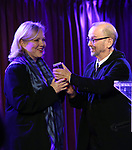 Susan Stroman and Joel Grey on stage during the Second Annual SDCF Awards, A celebration of Excellence in Directing and Choreography, at the Green Room 42 on November 11, 2018 in New York City.