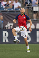 Foxborough, Massachusetts - July 23, 2016:  The New England Revolution (blue and white) beat Chicago Fire  (white) 1-0 in a Major League Soccer (MLS) match at Gillette Stadium.