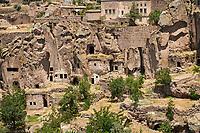 "Pictures & images of Guzelyurt cave city across the the Vadisi Monastery Valley, ""Manastır Vadisi"",  Ihlara Valley, Guzelyurt , Aksaray Province, Turkey."