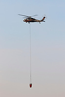Sikorsky UH-60A Black Hawk N805PJ operating out of Meadowlark Field in Livermore, California, in response to the 2020 SCU Lightning Complex fires. <br /> N805PJ was originally built for the Army in 1978 as 82-23704 and is currently operated by PJ Helicopters of Red Bluff, California.
