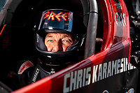Sep 1, 2019; Clermont, IN, USA; NHRA top fuel driver Chris Karemesines during qualifying for the US Nationals at Lucas Oil Raceway. Mandatory Credit: Mark J. Rebilas-USA TODAY Sports