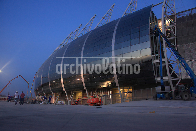 The Castelao Stadium in Fortaleza, Brazil. The stadium is site of both the Confederations Cup 2013 and World Cup 2014.
