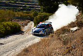 6th October 2017, Costa Daurada, Salou, Spain; FIA World Rally Championship, RallyRACC Catalunya, Spanish Rally; Teemu Suninen and his co-driver Markkula Mikko of Finland compete in their Ford Fiesta R5 M Sport World Rally Team during the Terra Alta stage