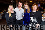 Marilyn McCarthy (Causeway), Denis Lucid (Causeway), Lucia CoughlIn (Newcastlewest) and Trish Lawlor (Lixnaw) celebrating Thanksgiving in The Rose Hotel on Thursday.