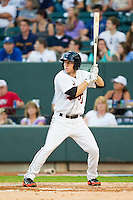 Carolina League All-Star Ty Kelly #3 of the Frederick keys at bat against the California League All-Stars during the 2012 California-Carolina League All-Star Game at BB&T Ballpark on June 19, 2012 in Winston-Salem, North Carolina.  The Carolina League defeated the California League 9-1.  (Brian Westerholt/Four Seam Images)