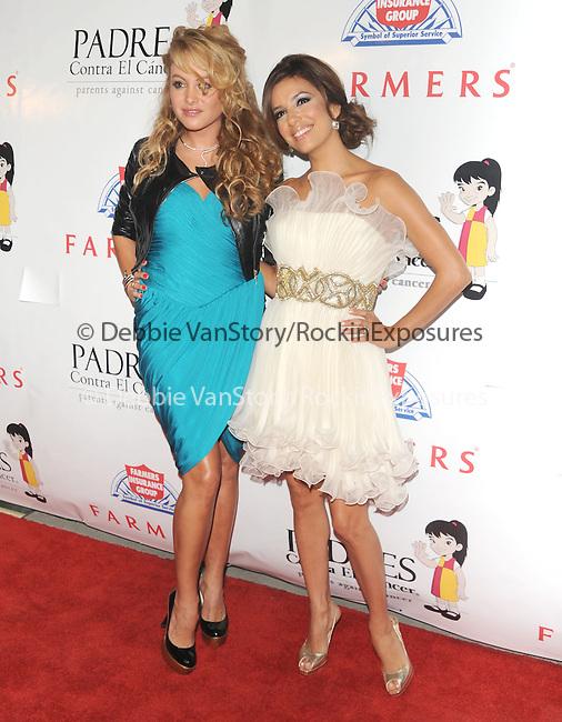 Paulina Rubio & Eva Longoria at The Padres Contra El Cancer's 9th Annual El Sueno de Esperanza Gala held at The Palladium on September 10,2009                                                                   Copyright 2009 DVS / RockinExposures