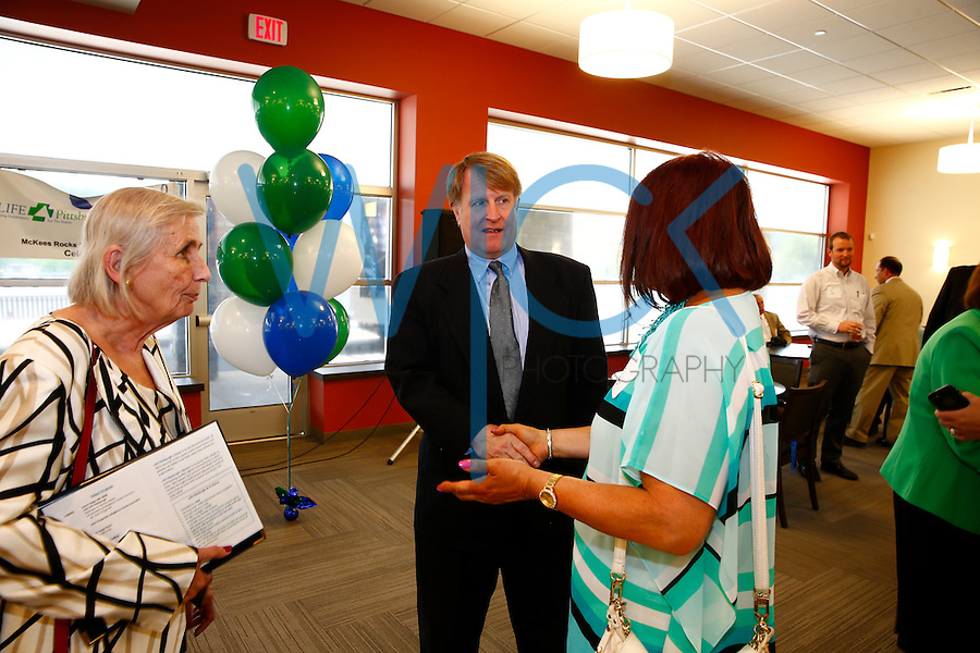 County Executive Rich Fitzgerald attends the ribbon cutting ceremony at the Life Pittsburgh event in McKees Rocks, Pennsylvania. (Photo by Jared Wickerham/Wick Photography)