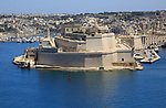 Fort Saint Angelo, Grand Harbour, Vittoriosa, Valletta, Malta