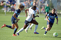 Kansas City, MO - Saturday July 16, 2016: Katie Bowen, Cheyna Williams, Lo'eau LaBonta during a regular season National Women's Soccer League (NWSL) match between FC Kansas City and the Washington Spirit at Swope Soccer Village.