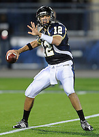 6 December 2008:  FIU quarterback Paul McCall (12) throws in the FIU 27-3 victory over Western Kentucky at FIU Stadium in Miami, Florida.