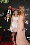 Laura Wright with hubby John and daughter Lauren & son John at the 38th Annual Daytime Entertainment Emmy Awards 2011 held on June 19, 2011 at the Las Vegas Hilton, Las Vegas, Nevada. (Photo by Sue Coflin/Max Photos)