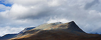 Scenic mountain view from near Sälka hut, Kungsleden trail, Lapland, Sweden